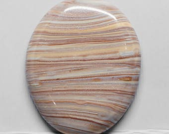 Striped Faux Stone Oval Polymer Clay Cabochon