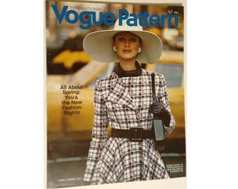 Vintage Vogue Pattern Book International Early Spring February March 1971 Magazine