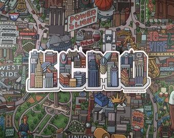 KCMO Die-Cut Vinyl Bumper Sticker