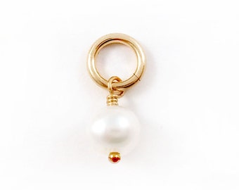 Gold Freshwater Pearl Charm Add On