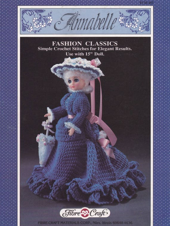 Annabelle Fibre Craft Crochet Doll Clothes Pattern Booklet