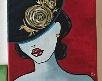 Pop Art inspired acrylic painting