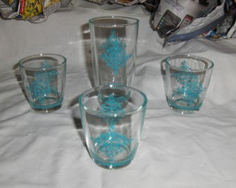 4 Daisy Sour Cream glasses