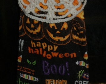 2 Crochet  Towel Topper Patterns Halloween Witch Hat and Spider Web