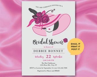 Kentucky Derby Inspired Bridal Shower Invitation (Digital)