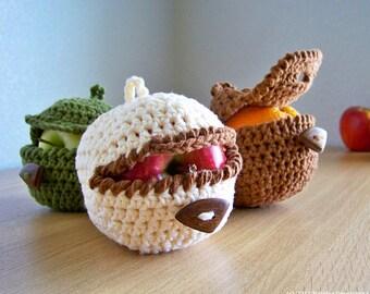 Crochet Pattern Amigurumi, Crochet Apple Cozy Pattern, Crochet Pattern, Crochet Apple Pattern, Easy Crochet Pattern, Beginner Crochet
