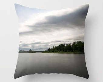 Nature Pillow, Pillow Cover, Boundary Waters, Minnesota Images, Living Room Decor, Bed Pillow, Landscape Photo, Photography Pillow, Midwest