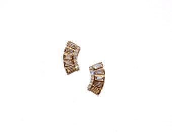 18k Baguette Diamond Studs/Earrings