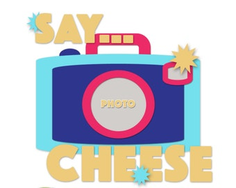 Say Cheese Digital Scrapbooking Template from the Entitled Series