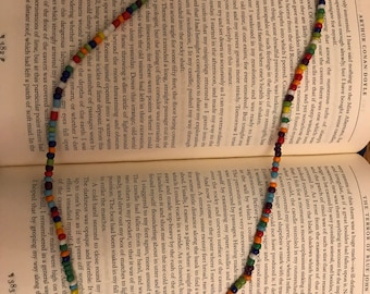 Rainbow wrap-around bracelet or necklace