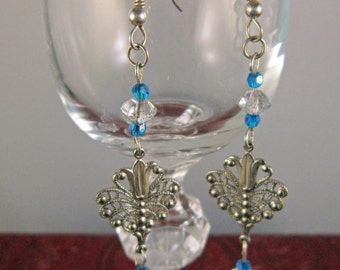 Delicate Beaded Drop Earrings Vintage Beads