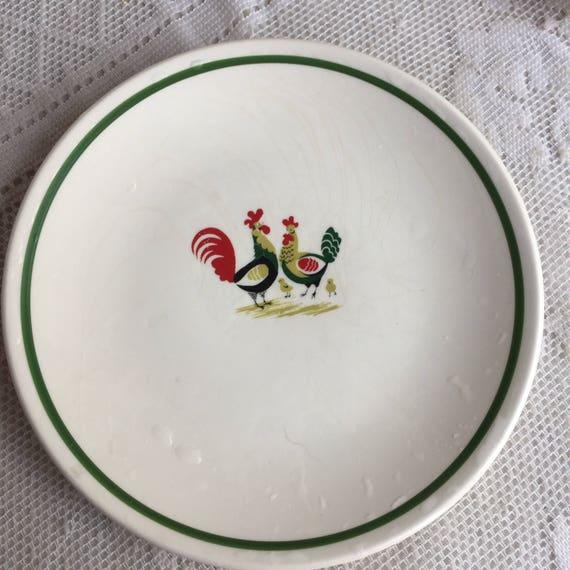 Like this item? & Steubenville Family Affair Pattern Plates / Vintage Ceramic