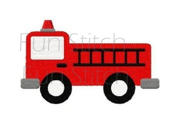 firetruck fire engine truck machine embroidery design
