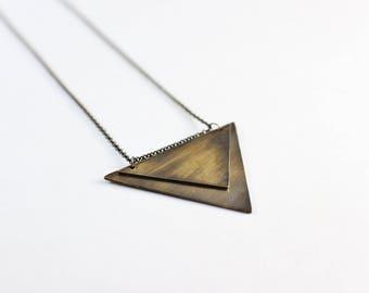 Aero Necklace Geometric Triangle Boho