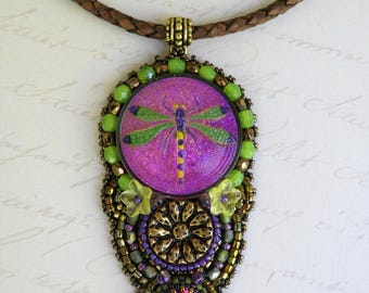 Dragonfly pendant necklace.