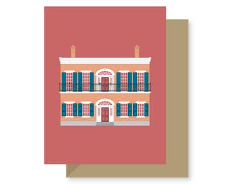 Hermann-Grima House, Historic Building Preservation Architecture French Quarter Louisiana, New Orleans Greeting Card