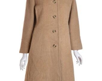 Beige Wool Coat-Zara