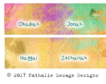 Bible Index Tabs Scripture Journaling Paint Splash Index Tabs Scripture Dividers bible tabs Easter Gift Idea Organizing Lesage 2017BT13