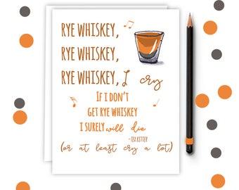 Whiskey Birthday Card - Funny Best Friend Card - Birthday Card - Fathers Day Card - bday17.whiskey