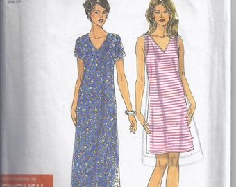 Simplicity 8584 Sewing Pattern from 1999 for Women: Knit Dress  Bust 31 1/2 - 36   Easy Pattern