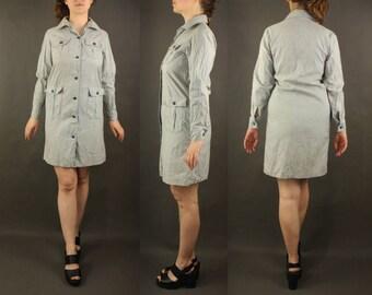 Scout dress 1987, uniform dresses, button up dress women midi school dress, casual Women's Clothing khaki quality vintage girl beige gray