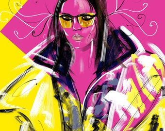 Kendall Jenner in Versace Fashion by Talia Zoref