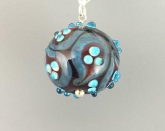 Blue & Purple paisley pendant