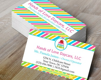 DIY (Do-It-Yourself) Childcare Business Card | Daycare Business Card - Editable Template - Microsoft Word Format
