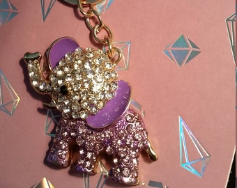 Baby Elephant KEYCHAIN/ Diaperbag/handbag accessory DISCOUNTED SHIPPING