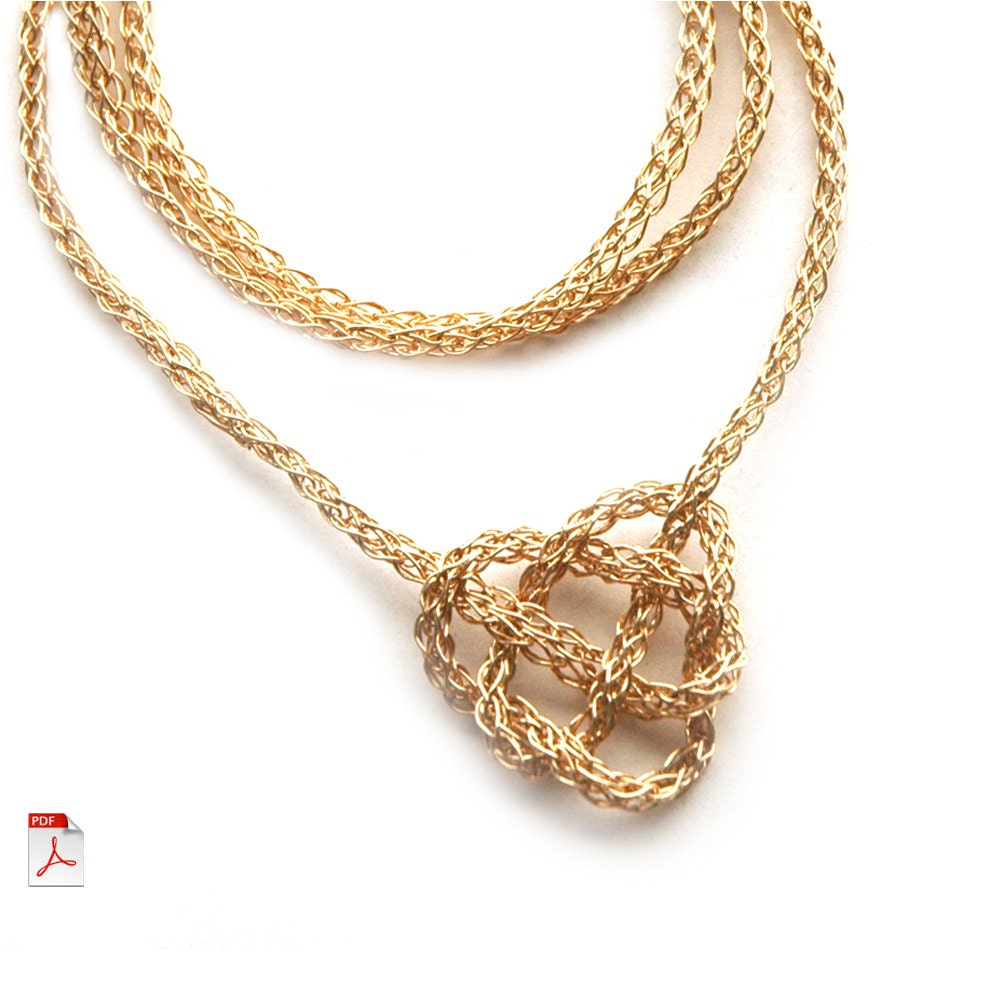 CROCHET jewelry PATTERN Celtic heart knot PDF tutorial How to ...
