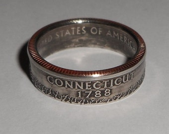 Sealed CONNECITUT us quarter  coin ring size  or pendant