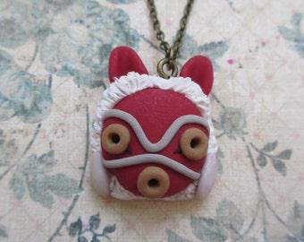 Princess Mononoke  mask necklace