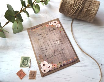 Floral Forest Save the Date - SAMPLE