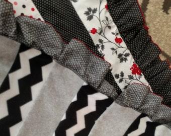 Cute n' Soft Ruffle Baby Quilt- Custom