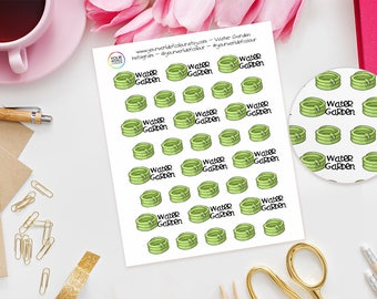 Water Garden Planner Stickers, For Erin Condren, Happy Planner, schedule, Plum Paper, Filofax, TN, Hose Pipe, Gardening