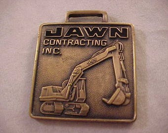 Jawn Contracting Inc Brass Watch Fob