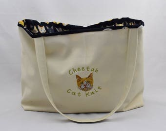 Customized EXOTIC CAT BREED Jumbo Canvas Tote Bag! Your Favorite cat on a Tote Bag!