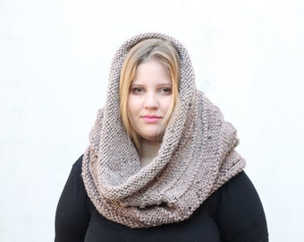 Chunky snood / Snood for women / Knitted cowl / Chunky knit cowl / Neck warmer / Knit cowl scarf / cowl
