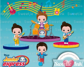 Topa and the Rollers Junior Express clipart kawaii