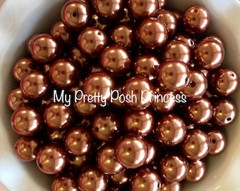 20mm Copper Chunky Bead Faux Pearl (A73)