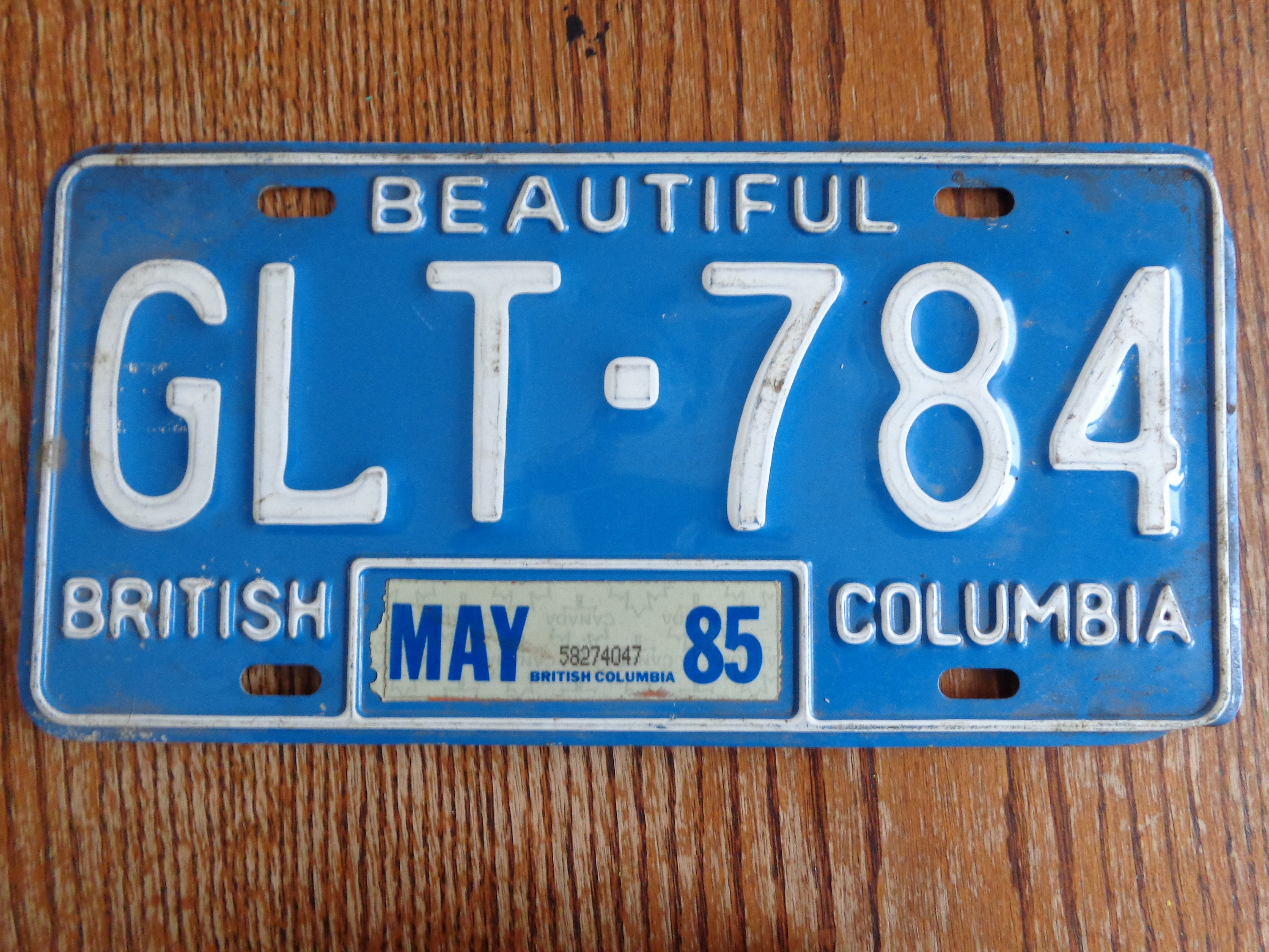 Vintage BC license plate Vintage License Plate Old License