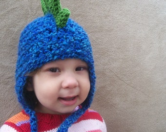 Dragon Hat in Deep End Blue with Grass Green Spikes //  Blue T Rex, Dinosaur Hat for Winter Snow, Cute Animal Hat, Rawr