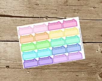 Homework Planner Stickers