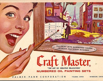 Vintage 1960's Craft Master Numbered Oil Painting Sets Brochure and Order Form