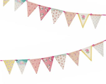 Paper Bunting Flags Chintz Party Decoration 4 meters