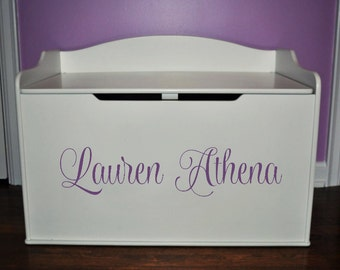 Toy Box Decal, Personalized Toybox, Name for Toy Box, Toy Chest Name Sticker, Vinyl Name Decals