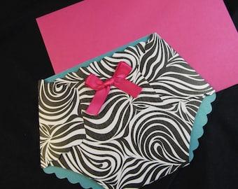 Animal print baby shower invitation
