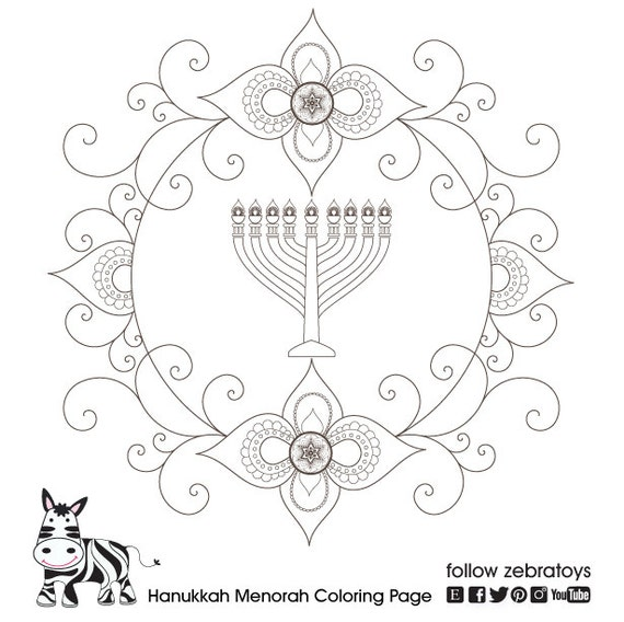photo relating to Menorah Printable called Shoptagr Hanukkah Menorah Coloring Web site Hanukiah Printable
