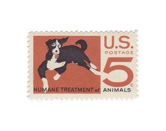 10 Unused Vintage Postage Stamps - 1966 5c Humane Treatment of Animals - Item No. 1307