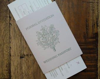 French PassPort Invitation, France PassPort Invitation, French Wedding PassPort Invitation, France Travel Invitation. France Invitation